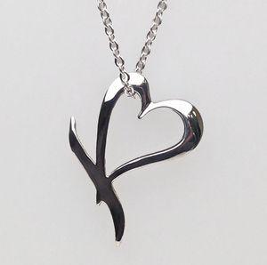 Lippa's KB Heart Silver Pendant & Chain