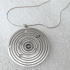 Solar System Pendant (Silver plated)