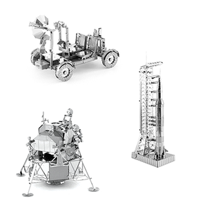 New price! 3-D Metal Lunar Models (set of 3)