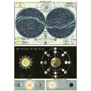 Vintage Celestial Art Posters / Set of 2