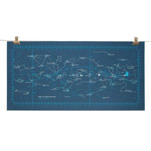 "Apollo 11 Star Chart Art Poster, 12"" x 24"""
