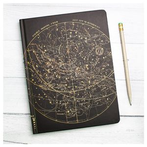 Astronomy Starchart Hardcover Notebook