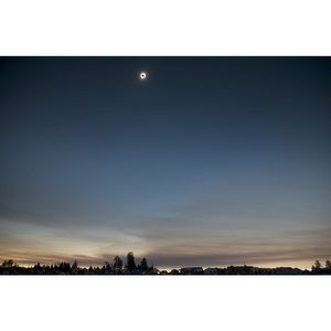 "Limited Edition ""Eclipse Over Oregon"" – 12"" x 18"" photograph, matted"