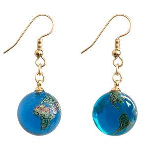 Glass Earth Earrings (pair)