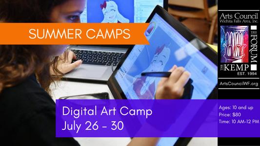 Camp: Digital Art, JUL 26 - 30, 10AM - 12PM