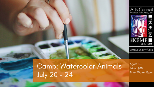 Youth: Watercolor Animals Summer Camp
