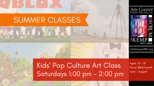Class: Kids' Pop Culture Art, Saturdays 1-2PM