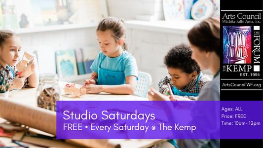 Class: Studio Saturdays, Saturdays 10:00 -12:00PM, The Kemp
