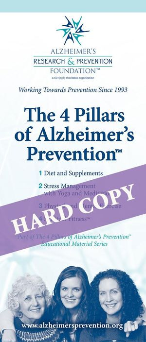 HARD COPY Brochure: The 4 Pillars of Alzheimer's Prevention
