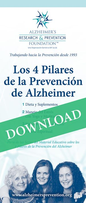 Spanish DOWNLOAD IT NOW - Brochure: The 4 Pillars of Alzheimer's Prevention