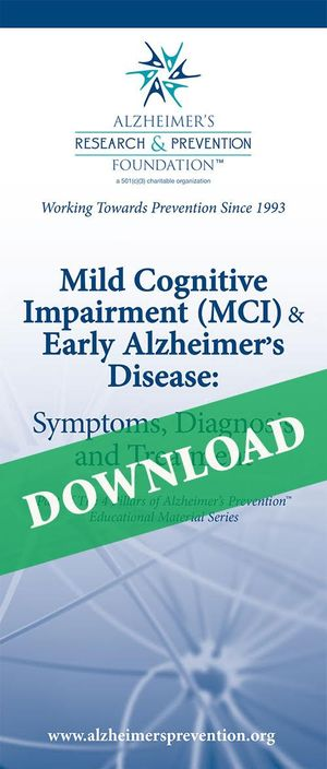 DOWNLOAD IT NOW- Brochure: Mild Cognitive Impairment (MCI) and Early Alzheimer's Disease