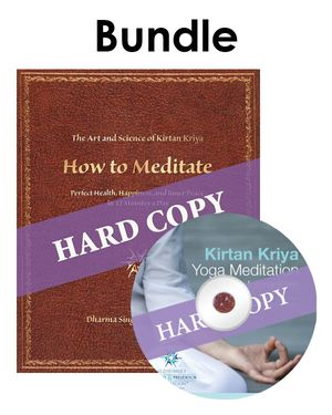 HARD COPY - Bundle How to Meditate Manual Plus KK CD