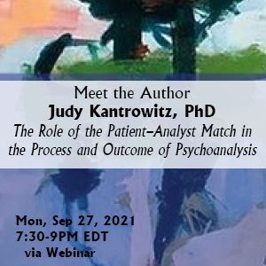 Meet the Author with Judy Kantrowitz, PhD