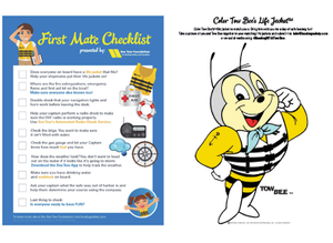 First Mate Checklist & Tow Bee Coloring Page