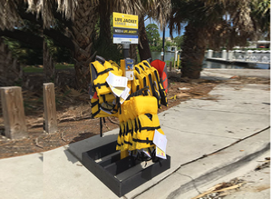 Donate a Life Jacket Stand Plus 54 Life Jackets