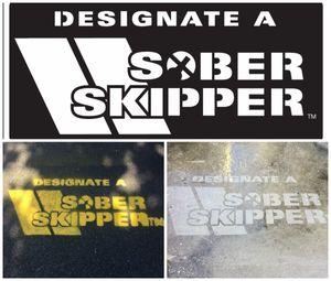 Sober Skipper Stencil
