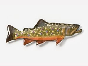 Brook Trout Hand Painted Pin