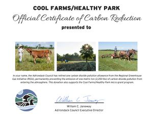 Carbon Reduction Certificate