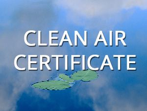 Clean Air Certificate