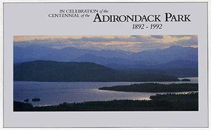 Adirondack Park Centennial Poster