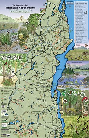 Champlain Valley Poster - Laminated