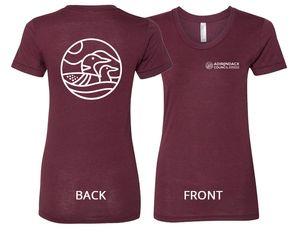 Loon T-Shirt | Women's | Tri-Cranberry