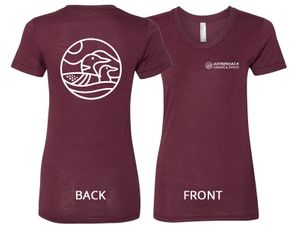 Loon T-Shirt | Women's | Tri-Cranberry