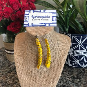 Painted Earrings: Yellow