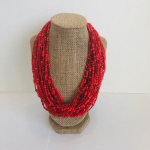 Red/Orange Beaded Necklace
