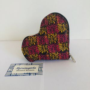 Red and Yellow Heart Bag