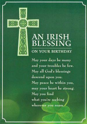 Irish Birthday Card