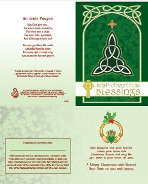 Irish Christmas Enrollment Card