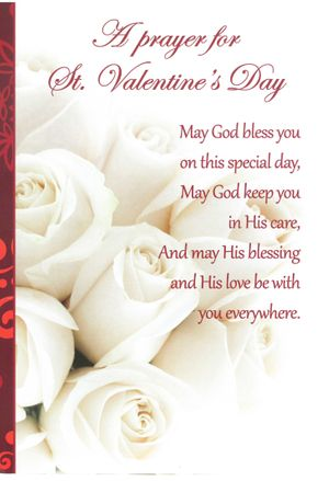 A Prayer for Valentine's Day Enrollment Card