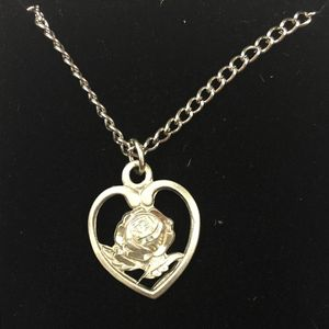 Rose Heart Pendant