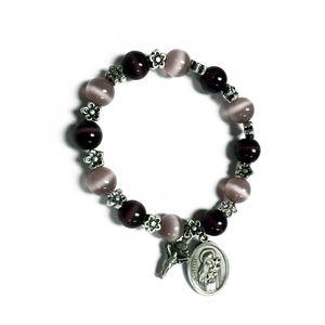 Saint Thérèse Blessed Amethyst Bead Bracelet