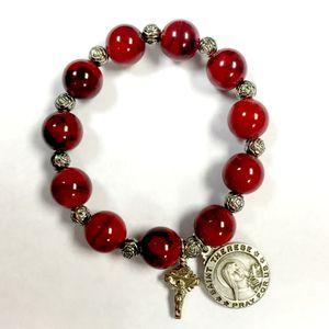 Blessed Saint Thérèse Marble Bead Bracelet