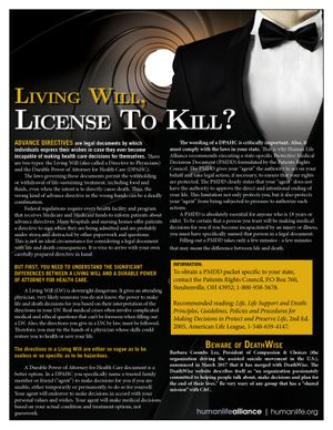 Living Will License to Kill