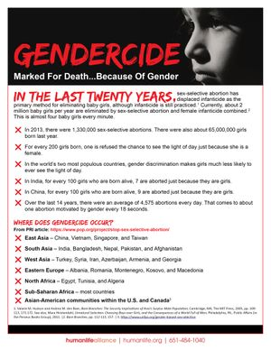 Gendercide Marked For Death Because of Gender