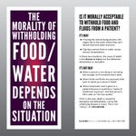 The Morality of Withholding Food/Water Card