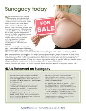 Surrogacy Fact Sheet