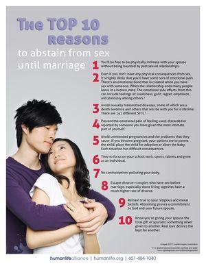 Top 10 Abstinence Hong Kong Fact Sheet