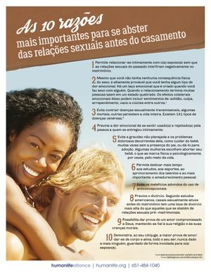 Top 10 Abstinence Portuguese Fact Sheet