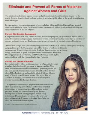 Violence Fact Sheet