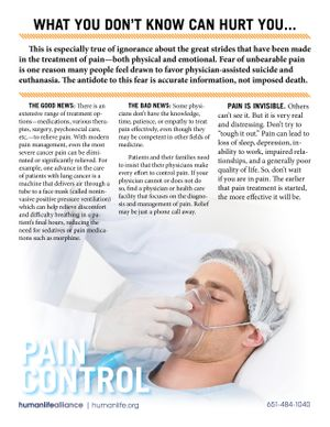 Pain Control Fact Sheet