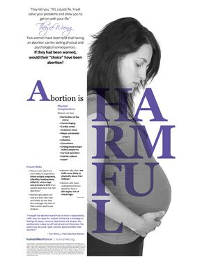 Abortion is Harmful Poster
