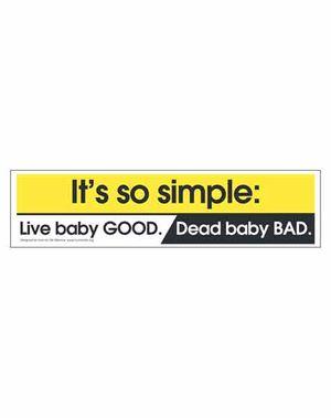 Live Baby Bumper Sticker