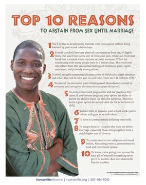 Top 10 Abstinence Muslim Kenya Nigeria Fact Sheet