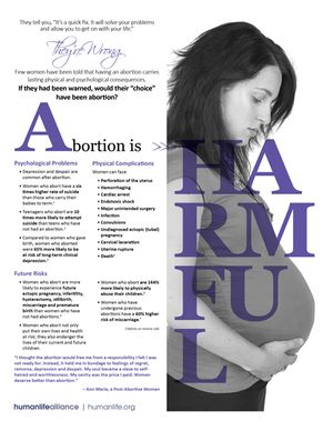 Abortion is Harmful to Women Fact Sheet