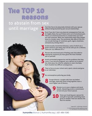 Top 10 Abstinence Hong Kong Fact Sheet