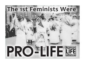 The 1st Feminists were Pro-Life Laptop/Bumper Sticker